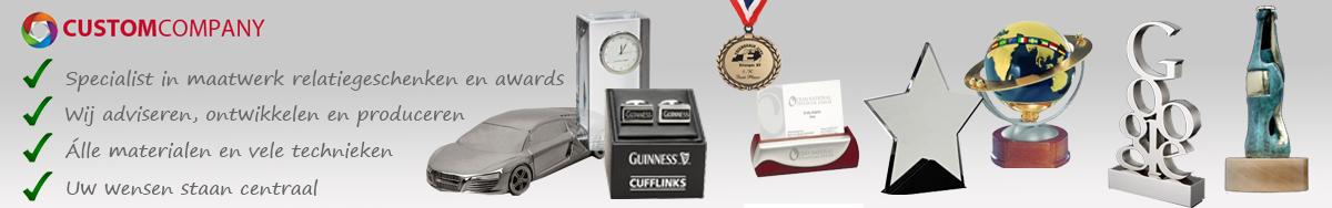 Maatwerk relatiegeschenken en awards laten maken, Glas, plexiglas hout en steen relatiegeschenken en award