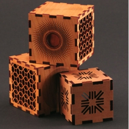 Cubes with deep carving