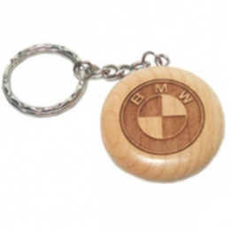Wooden Keychain with deep Carving